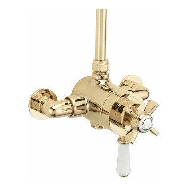 Sagittarius Churchman Exposed D/Control Thermo Shower - Gold