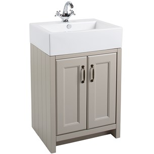 Butler & Rose Darcy 2 Door Traditional Vanity Unit and Belfast Basin - French Grey