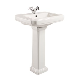 Chartley Traditional 1 Tap Hole Basin & Full Pedestal