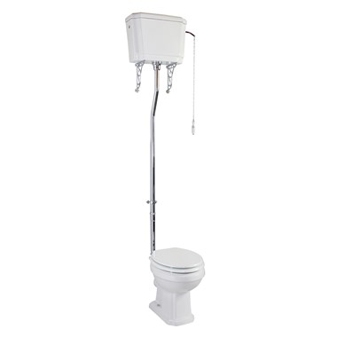 Chartley Traditional High Level Toilet, Cistern & Flush Pipe Kit