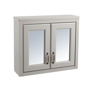Chartley Mirror Cabinet in Taupe