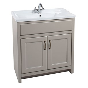 Chartley 2 Door 810mm Cabinet With Basin in Taupe