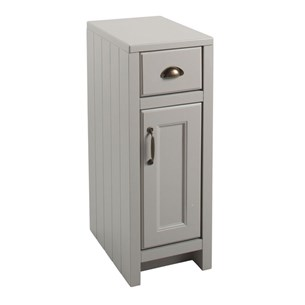 Chartley One Door & One Drawer Storage Cabinet in French Grey