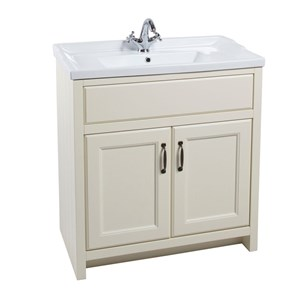 Chartley 2 Door 810mm Traditional Cabinet With Basin in Vanilla
