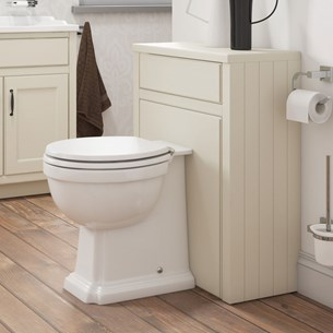 Chartley Traditional Back to Wall WC Toilet Unit - Vanilla