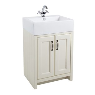 Chartley 2 Door Traditional Vanity Unit and Belfast Basin - Vanilla