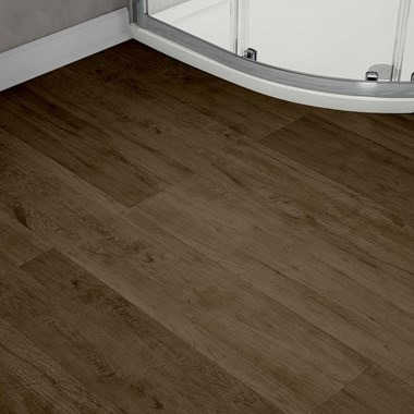 Chestnut Finish Vinyl Plank Flooring 12 Piece Pack - Approx. 2.65m²