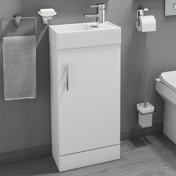 Drench Maisie 400mm Cloakroom Vanity Unit With Basin - Gloss White