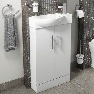 Drench Maisie 500mm 2 Door Vanity Unit and Basin - White