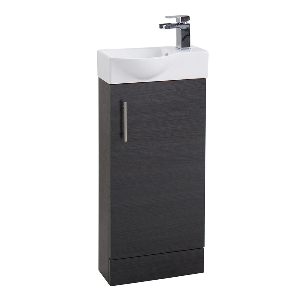 sink vanity units for bathrooms wood compact 400mm cloakroom vanity unit and basin black ash units small tap warehouse