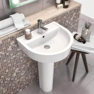 Swift 520mm Basin & Full Pedestal