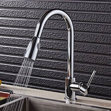 nuie Swan Neck Pull Out Kitchen Spray Tap