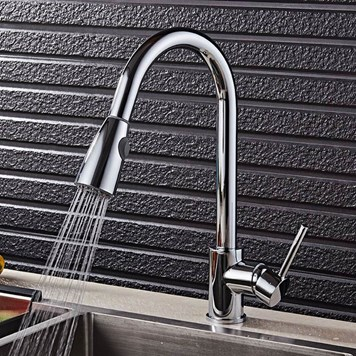Premier Swan Neck Pull Out Kitchen Spray Tap