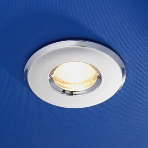 HIB Fire Rated Warm White LED Chrome Showerlight