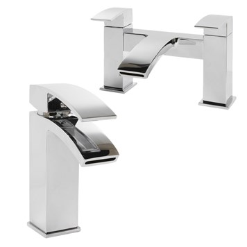 Vellamo City Basin Mixer & Bath Filler Value Pack
