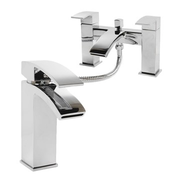 Vellamo City Basin Mixer & Bath Shower Mixer Pack