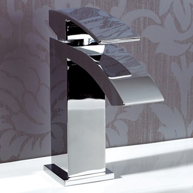 Vellamo City Waterfall Basin Mixer Tap with Free Waste