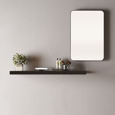 Bathroom Origins City Rectangular Mirror - Black