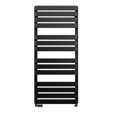 Bauhaus Celeste Towel Rail in Metallic Black Matte - 500 x 1100mm
