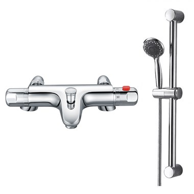 Drench Clara Thermostatic Bath Shower Mixer & Slide Rail Kit