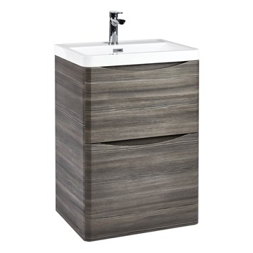 Harbour Clarity 600mm Floorstanding Vanity Unit & Basin - Avola Grey