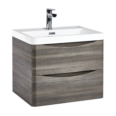 Harbour Clarity 600mm Wall Hung Vanity Unit & Basin - Avola Grey