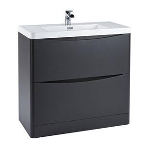 Harbour Clarity 900mm Floorstanding Vanity Unit & Basin - Anthracite Grey