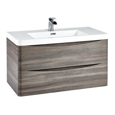 Harbour Clarity 900mm Wall Hung Vanity Unit - Avola Grey
