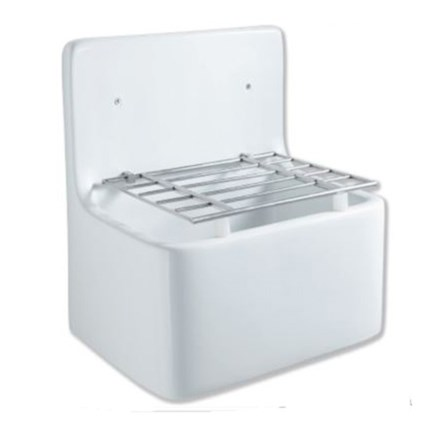 Butler Rose Fireclay Cleaners White Ceramic Sink 520 X 390mm Cleansink