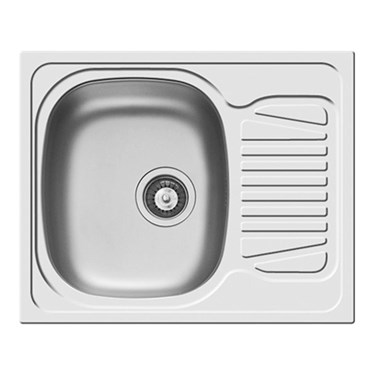 Clearwater Sparta Single Bowl Satin Finish Sink & Drainer - Reversible