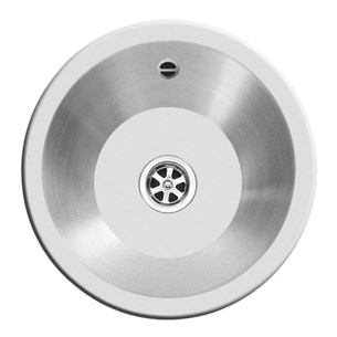 Clearwater Royal Mini Round Single Bowl Brushed Steel Finish Sink