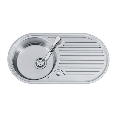 Clearwater Oboe Single Bowl Satin Finish Sink - Reversible