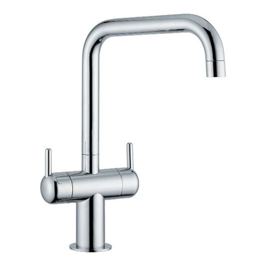 Clearwater Altuna Twin Lever Mono Kitchen Mixer Tap With Swivel Spout