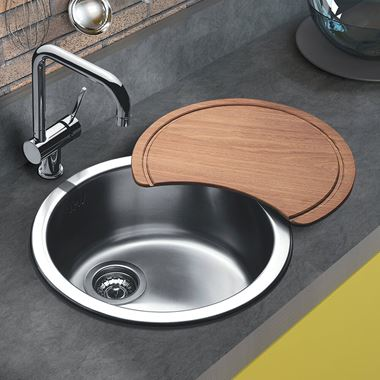Clearwater Arco Round Single Bowl Brushed Stainless Steel Sink - 450 x 450mm