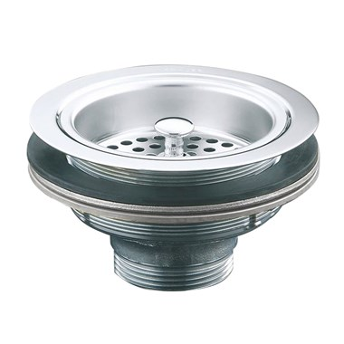 Clearwater 90mm Deluxe Basket Strainer & Overflow - Chrome