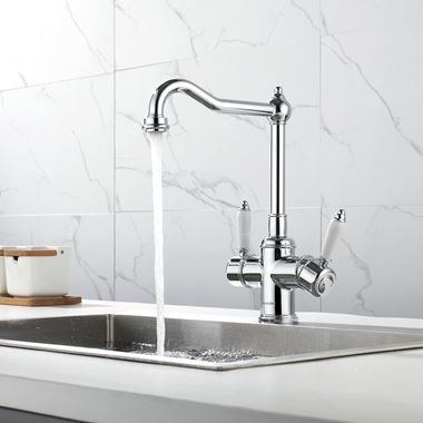 Clearwater Cassini Mono Kitchen Mixer and Cold Filtered Water Tap