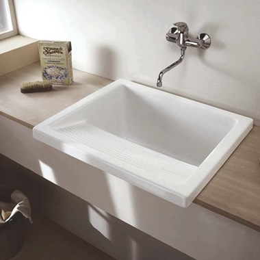 Clearwater Utility White Ceramic Large Laundry Sink