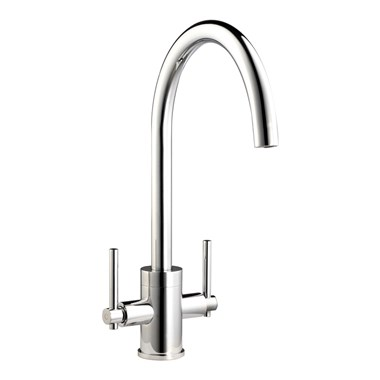 Clearwater Rococo Twin Lever Mono Sink Mixer With Swivel Spout