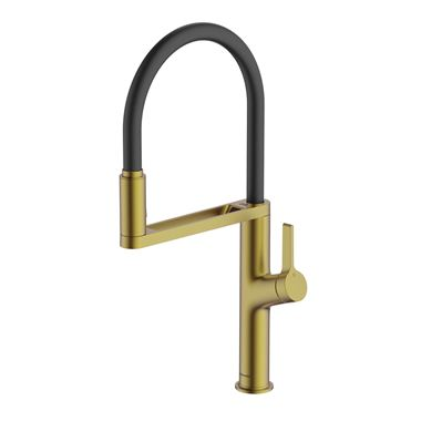 Clearwater Galex Motion Touchless Single Lever Mono Pull Out Kitchen Mixer - Brushed Brass