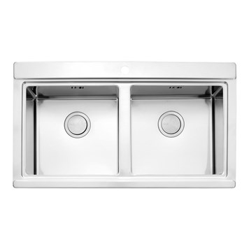 Clearwater Glacier Double Bowl Brushed Stainless Steel Sink