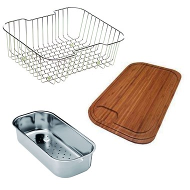 Clearwater Accessory Pack for Bolero 1.5 Bowls Satin Stainless Steel Sink