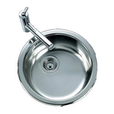 Clearwater Arco Round Single Bowl Brushed Steel Finish Sink