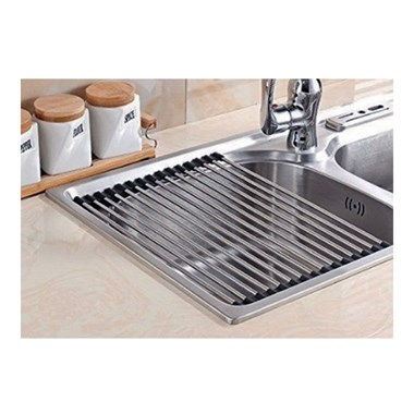 Clearwater Stainless Steel Roll Mat Sink Drainer - 300 x 430mm