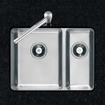 Clearwater Salsa 1.5 Bowl Brushed Steel Undermount Sink