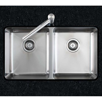 Clearwater Salsa Double Bowl Brushed Steel Undermount Sink