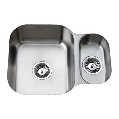 Clearwater Tango 594mm 1.5 Bowl Brushed Steel Undermount Sink