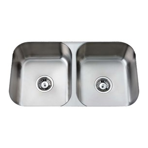 Clearwater Tango Double Bowl Brushed Steel Undermount Sink