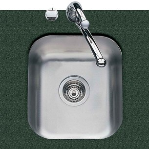 Clearwater Tango 350mm Single Bowl Brushed Steel Undermount Sink