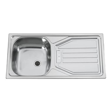 Clearwater Okio 85 Single Bowl 860mm Satin Finish Sink - Reversible