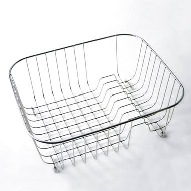 Clearwater Stainless Steel Wire Basket with Plate Rack for Ocean 3 Sink